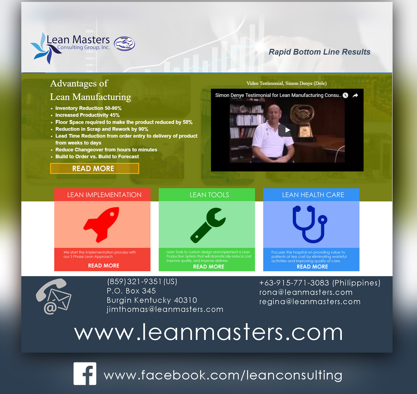 Lean Masters Consulting Group Inc Lean Consulting Lean